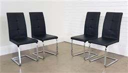 Sale 9255 - Lot 1020 - Set of 4 modern dining chairs (h:101 x w:43 x d:56cm)