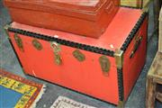 Sale 8046 - Lot 1087 - Metal Bound Travelling Trunk