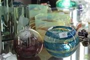 Sale 8256 - Lot 40 - Signed Art Glass Spiral Pattern Bowl With Other Art Glass