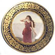 Sale 8268A - Lot 47 - ROYAL VIENNA HAND PAINTED PLATE