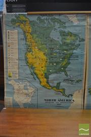 Sale 8338 - Lot 1019 - Vintage School Map of North America