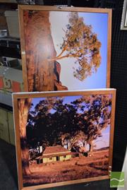 Sale 8522 - Lot 2071 - 2 Photographs of the Australian Outback (framed/various sizes) -