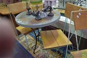 Sale 8532 - Lot 1316 - Three Piece Patio Suite with Table and Two Chairs
