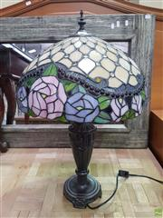 Sale 8593 - Lot 1049 - Leadlight Table Lamp