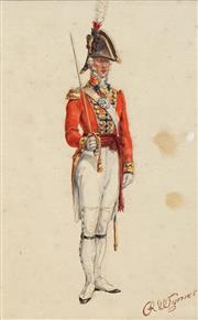 Sale 8683A - Lot 5176 - Artist Unknown - French Guard 25 x 15.5cm