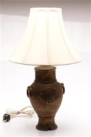 Sale 9060 - Lot 67 - A Ceramic Chinese Form Table Lamp (H: With Shade 60cm)