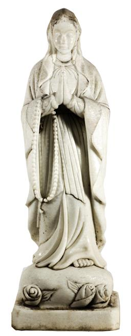 Sale 9192 - Lot 38 - A Carved Marble Figure of The Virgin Mary (H:83cm)