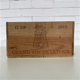 Sale 9257W - Lot 984 - French Timber Wine Box for 1980 Chateau Latour