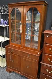 Sale 8093 - Lot 1014 - Timber 2 Piece Bookcase