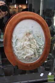 Sale 8217 - Lot 20 - German Ceramic Plaque Female study