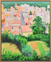 Sale 8294 - Lot 509 - Graham Marchant (1948 - ) - Rome from the Janiculum 98.5 x 81.5cm