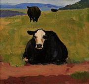 Sale 8342A - Lot 21 - Rick Amor (b. 1948) - 3 Cows, 1996 21.5 x 21.5cm