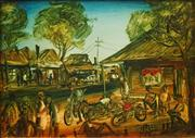 Sale 8624 - Lot 536 - Kevin Charles (Pro) Hart (1928 - 2006) - Country Pub 26 x 36cm