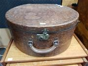 Sale 8908 - Lot 1010 - Vintage Leather Hat Box