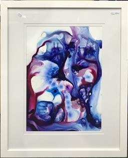 Sale 9103 - Lot 2078 - Sue Joikin Abstract acrylic, 77 x 93cm (frame) signed and dated