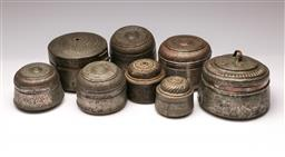 Sale 9119 - Lot 79 - A collection of spice/food lidded containers from Oman (8)