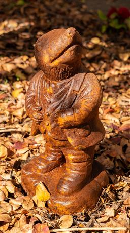 Sale 9191W - Lot 447 - A cast iron statue of  Mole from Wind in the Willows H.370mm