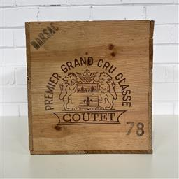 Sale 9257W - Lot 985 - French Timber Wine Box for 1978 Chateau Coutet