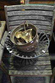 Sale 8035 - Lot 1093 - Vintage Iron Heater & Fire Stand etc
