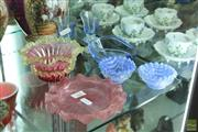 Sale 8256 - Lot 62 - Murano Glass Bowl With Other Art Glass incl Scalloped Edge