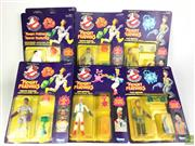 Sale 8559A - Lot 84 - Ghostbusters Action Figures in Box incl. Winston, Peter & Egon (7). With Im a Ghostbuster badge