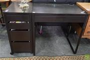 Sale 8550 - Lot 1252 - Modern Computer Desk with Single Drawer and a Filer