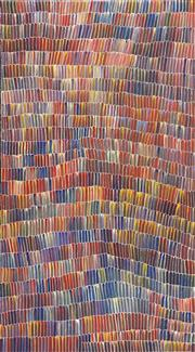 Sale 8813 - Lot 531 - Jeannie Mills Pwerle (1965 - ) - Bush Yam 168 x 95cm (stretched and ready to hang)
