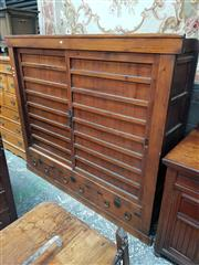 Sale 8868 - Lot 1057 - Large Meiji Pine Tansu, with two sliding doors & three drawers below