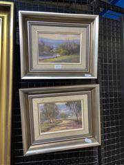 Sale 9016 - Lot 2025 - Werner  Filipich (2 works) Sofala & Hawkesbury River Country NSW oil paintings 23.5 x 29cm, each