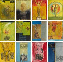 Sale 9161 - Lot 574 - ERIC SMITH (1919 - 2017) (12 works) The Apostles Faith Series oil and mixed media on board 102 x 76 cm (each), each signed lower, C...