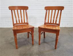 Sale 9151 - Lot 1220 - Pair of timber chairs (h91cm)