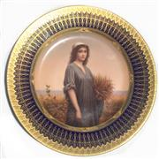 Sale 8268A - Lot 48 - ROYAL VIENNA HAND PAINTED PLATE