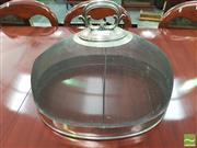 Sale 8428 - Lot 1074 - Late Victorian Silver Plated Food Dome, with mesh body & scroll handle (some wear to plate)