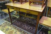 Sale 8532 - Lot 1118 - Timber Desk with Two Drawers