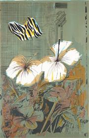 Sale 8794A - Lot 5010 - Charles Blackman (1928 - 2018) - Tiger Butterfly, 1970 81 x 56cm