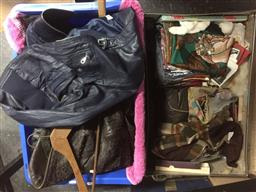 Sale 9152 - Lot 2520 - Collection of clothing and fashion inc leather jackets, scarves and others