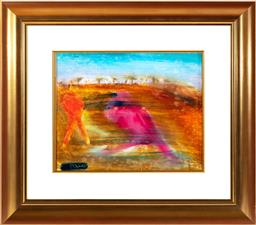 Sale 9190H - Lot 276 - Arthur Boyd `Person in Wimmera, Oil on Glass, 29X36CMSigned lower left.