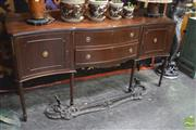 Sale 8352 - Lot 1037 - Timber Sideboard Raised on Fluted Legs
