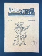 Sale 8539M - Lot 144 - Magical Digest September 1949, vol.1 no .1, ed. Oscar Oswald. Softcover in orange, good condition