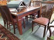 Sale 8550 - Lot 1408 - Seven Piece Mahogany Dining Suite inc Six Chairs and a Table