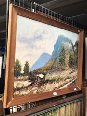 Sale 8850 - Lot 2073 - E A Davis - Burragorang Valley, oil on canvas on board, frame size 48 x 57cm, signed lower left