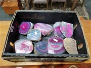 Sale 8889 - Lot 1034 - Box of Polished Pink Agate
