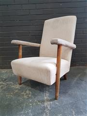 Sale 8959 - Lot 1079 - Retro Upholstered Armchair (H:85 x W:63cm)