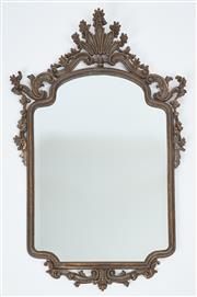 Sale 9080J - Lot 194 - A good deep bevel edged mirror in elaborate hand carved wood frame C: early 1900s Ht: 112cm x 74cm