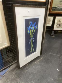 Sale 9094 - Lot 2007 - Peter Hickey Iris colour aquatint ed. 15/50, 88 x 53cm (frame) signed lower right