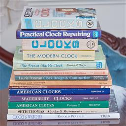 Sale 9103M - Lot 505 - A collection of reference books relating to all things clocks.
