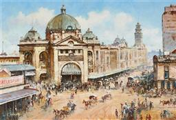 Sale 9133 - Lot 508 - Robert Todonai (1963 - ) Queen Victoria Building oil on board 38.5 x 57 cm (frame: 58 x 76 x 4 cm) signed lower left