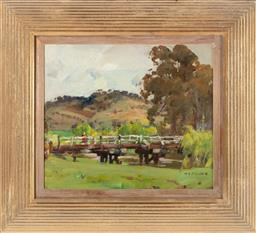 Sale 9190H - Lot 356 - Harold Septimus PowerFigures in Landscape, Oil on canvas,28x33cmsigned lower right.