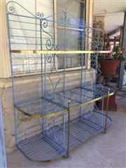 Sale 8268A - Lot 49 - WROUGHT IRON BAKERS STAND