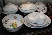 Sale 8379 - Lot 193 - Wedgwood Countryware Breakfast Set with Other Serving Wares incl. Royal Worcester